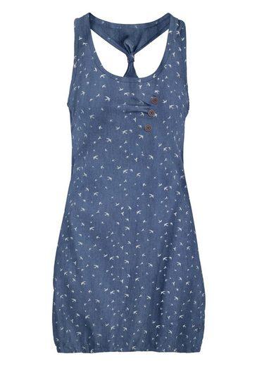 alife and kickin Jeanskleid »CAMERON D« süßes Ringerrücken Kleid im Allover-Design