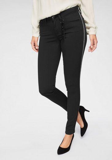 Mavi Skinny-fit-Jeans »ADRIANA« mit Galon-Streifen