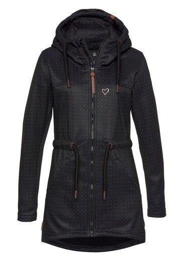 Alife & Kickin Parka »CharlotteAK D« modische Übergangsjacke mit Kapuze aus softshellartiger Qualität