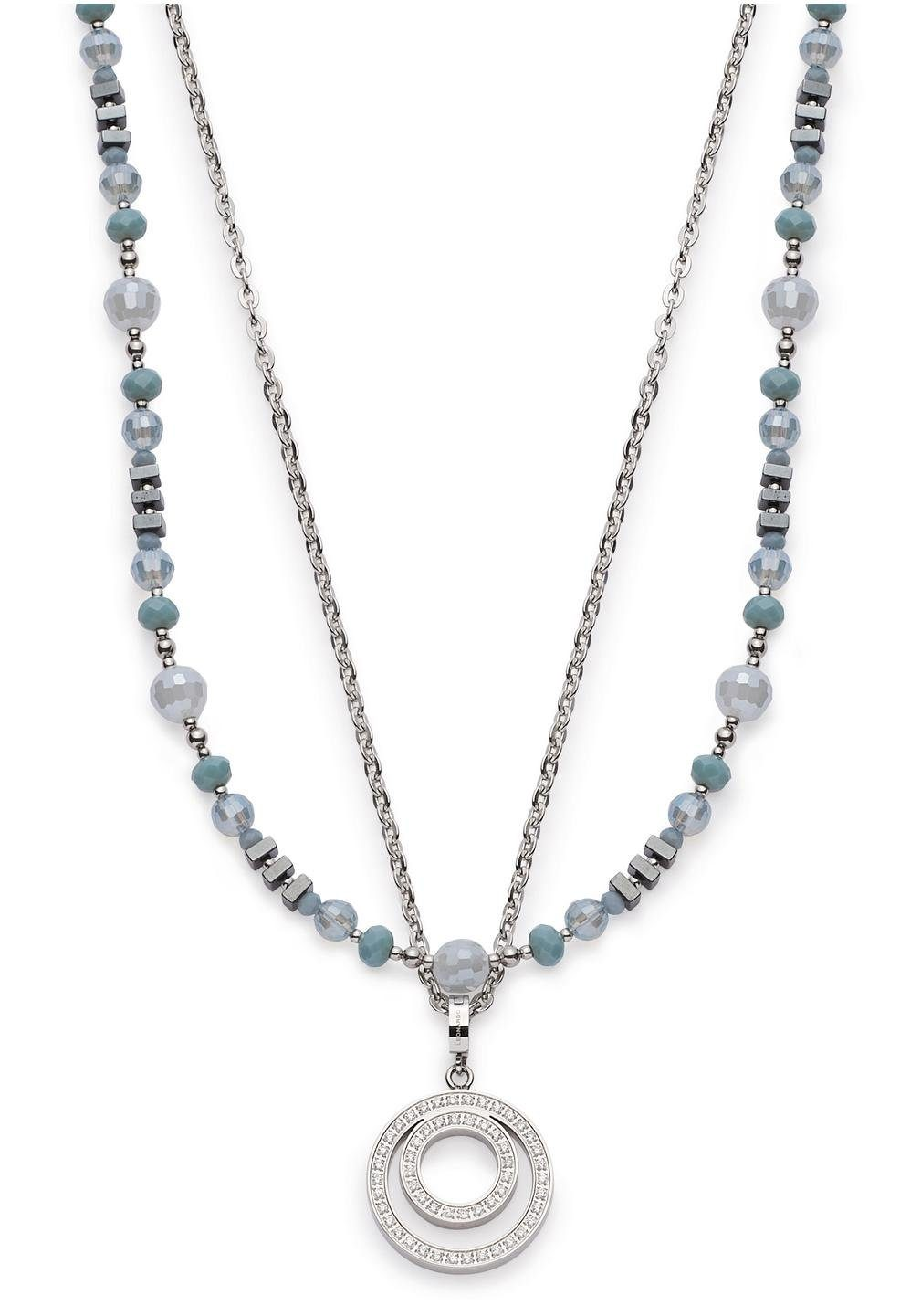 LEONARDO Kette und Anhänger Set »Misano Darlin's, 016692« (Set, 3 tlg) mit Glas-, Hämatit- und Kristallsteinen
