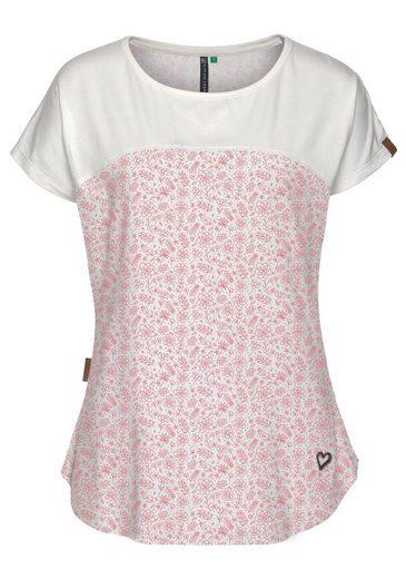 alife and kickin T-Shirt »CLARA« verspieltes kurzarm Shirt im floralen Design und weichem Griff