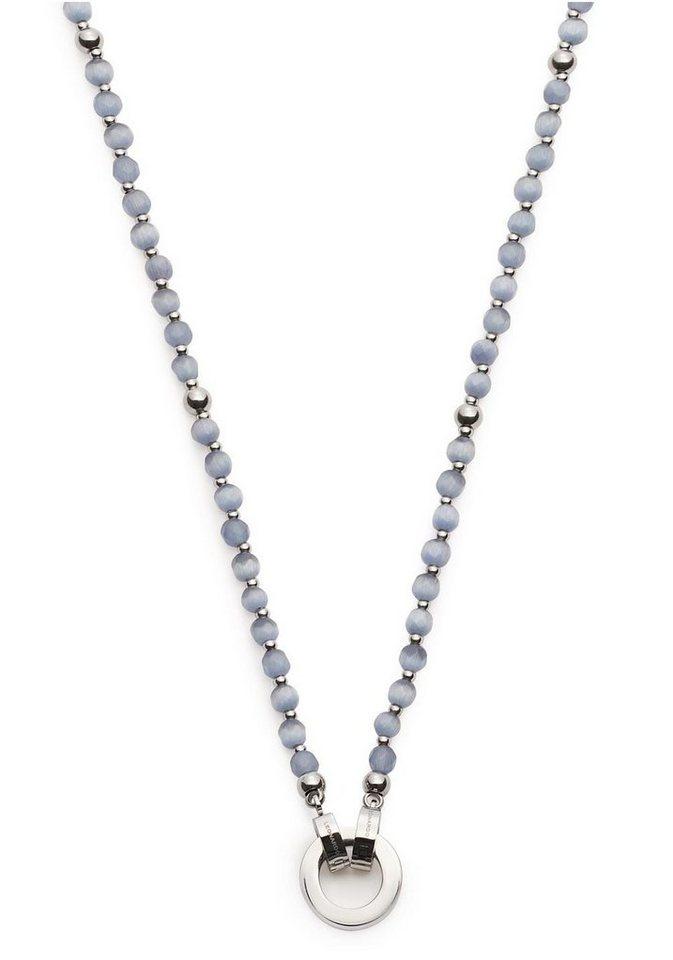 LEONARDO Charm-Kette »Carolina Darlin´s grau, 016670« mit Glassteinen | Schmuck > Charms > Charms Ketten | Grau | LEONARDO