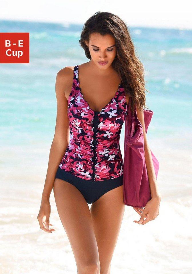 Bademode - petite fleur Badeanzug, im modisches Floral Design › rot  - Onlineshop OTTO