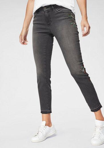 Mavi Скинни-fit-Jeans »SERENA ANKLE« mit floralen Stickereien
