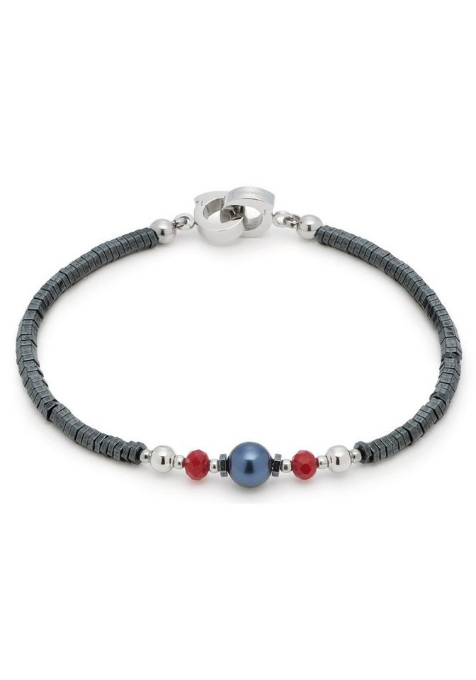LEONARDO Armband »Generoso Darlin´s, 016686« mit Glassteinen, Hämatit und imit. Perlen | Schmuck > Armbänder > Perlenarmbänder | Blau | LEONARDO