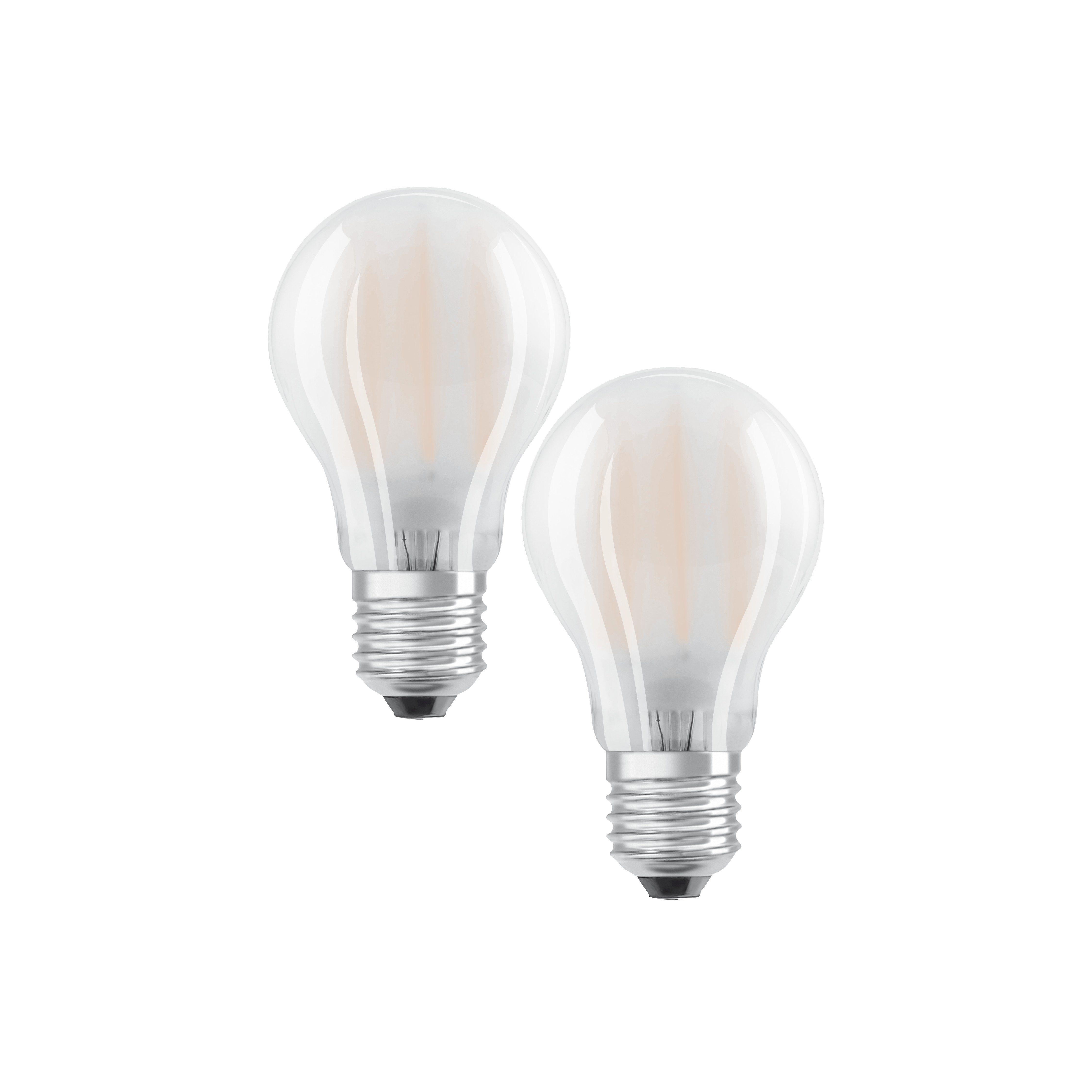 Osram Set: 2 x LED Retrofit Classic LED-Lampe »ST CLAS A 60 FR 7 W/827 E27«