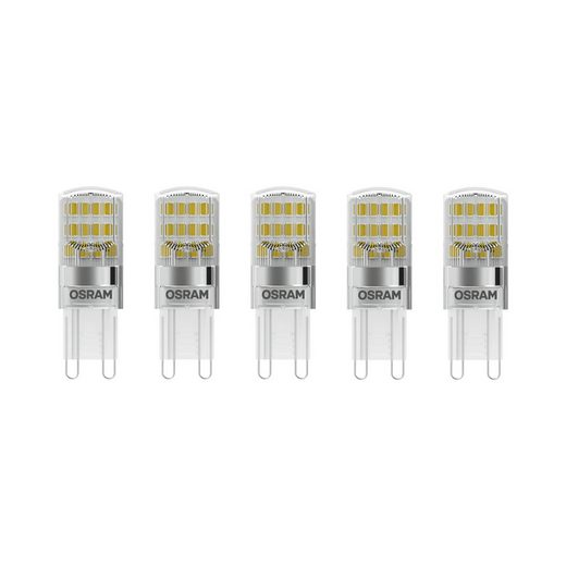 Osram Set: 5 x Hochvolt LED Speziallampen »PARATHOM PIN 20 1.9 W/827 G9«