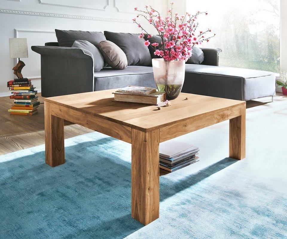 delife wohnzimmertisch indra akazie natur 80x80 massiv online kaufen otto. Black Bedroom Furniture Sets. Home Design Ideas