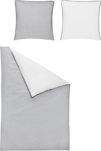 Wendebettwäsche »Linea 8021«, Irisette, in feinem Streifendesign