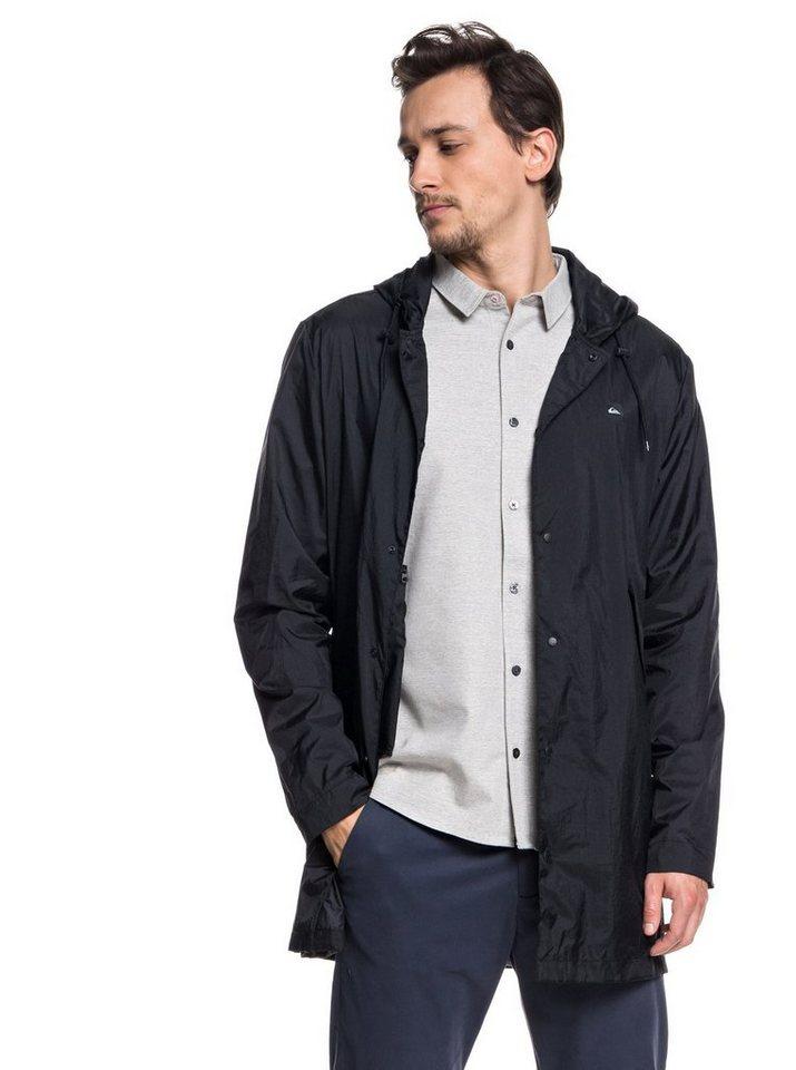 Herren Quiksilver Wasserabweisende klein verpackbare Coaches-Jacke Qpak schwarz | 03613373828767