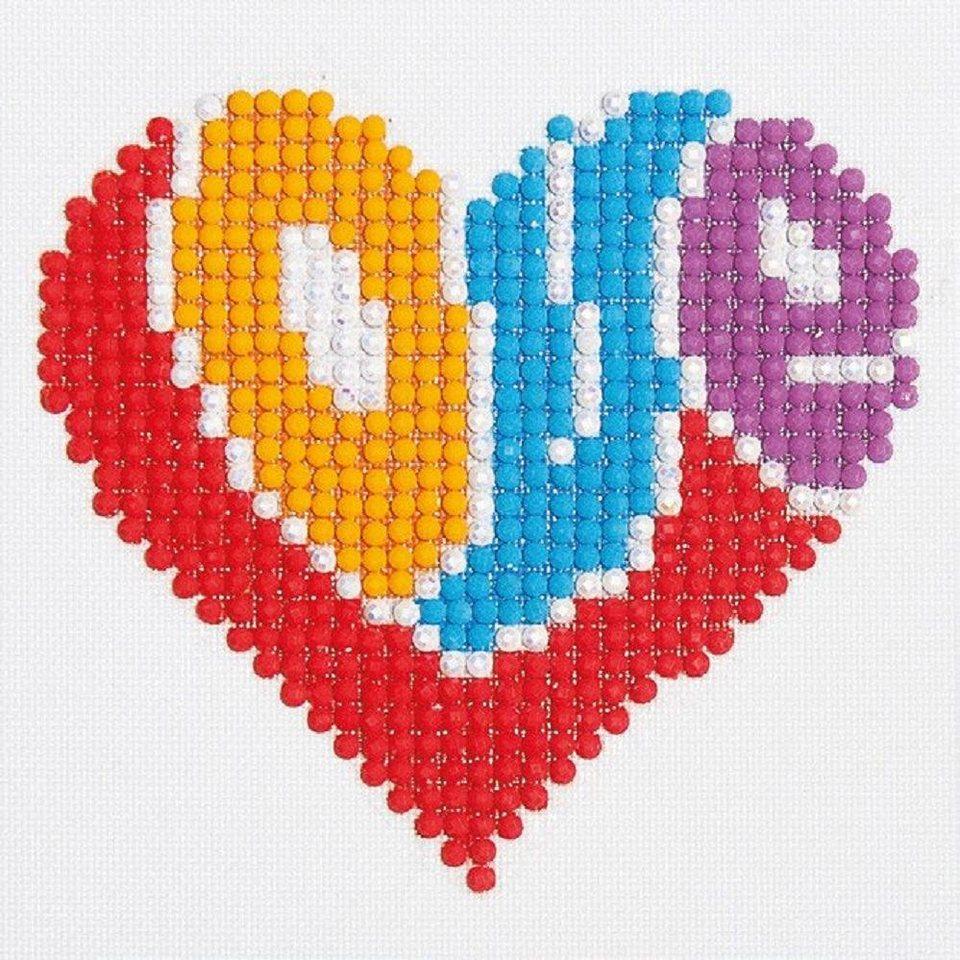 """Diamond Dotz-Set """"Love"""" kaufen Glitzerbild 10-tlg. kaufen """"Love"""" 5d138e"""