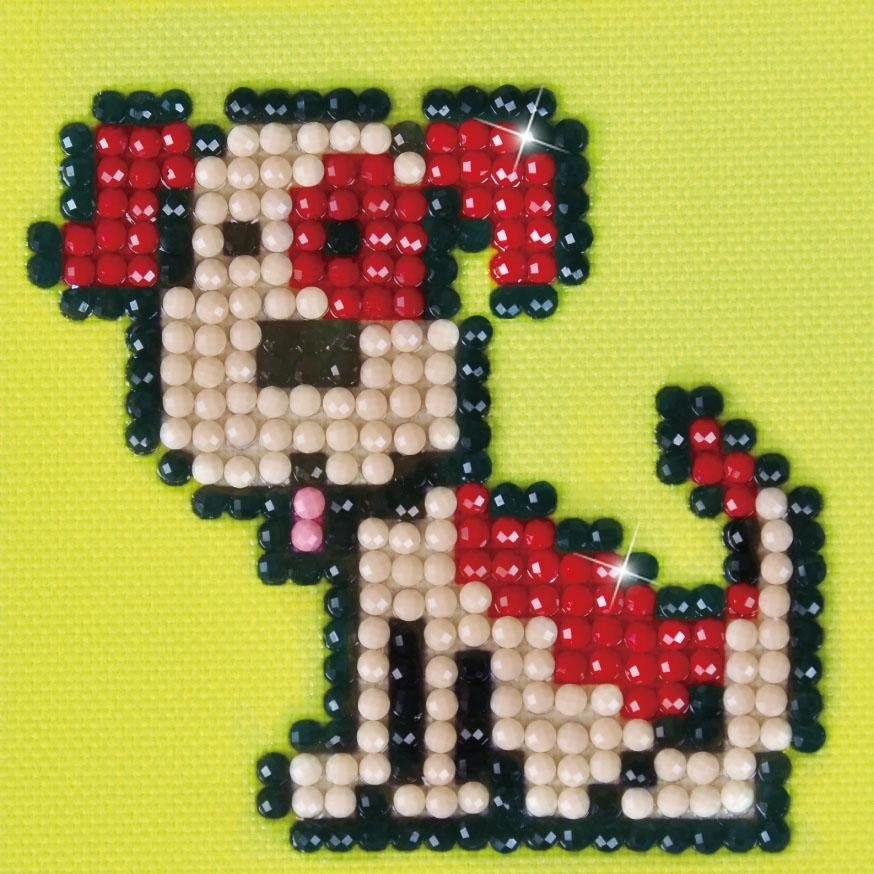 "Diamond Dotz-Set ""Hund Fido"" Glitzerbilder 9-tlg."