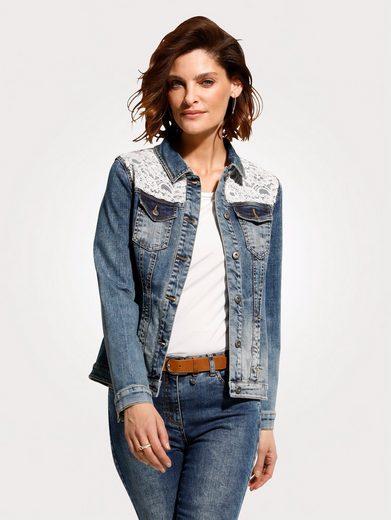 Mona Jeansjacke in Baumwoll-Qualität