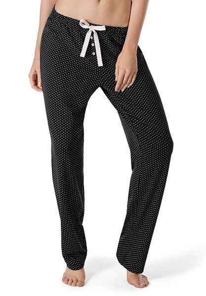 Skiny Dream Schlafanzughose Dots Mit Sleep Zierknöpfen And Black 3Rj5L4A