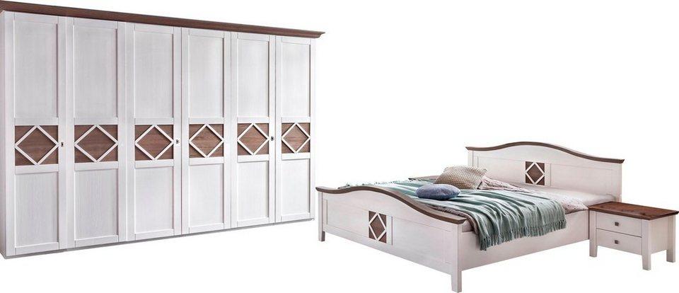 Premium collection by Home affaire Schlafzimmer-Set, Mistral», 6-trg  Schrank, Bett 180/200 cm, 2 Nachttische online kaufen | OTTO