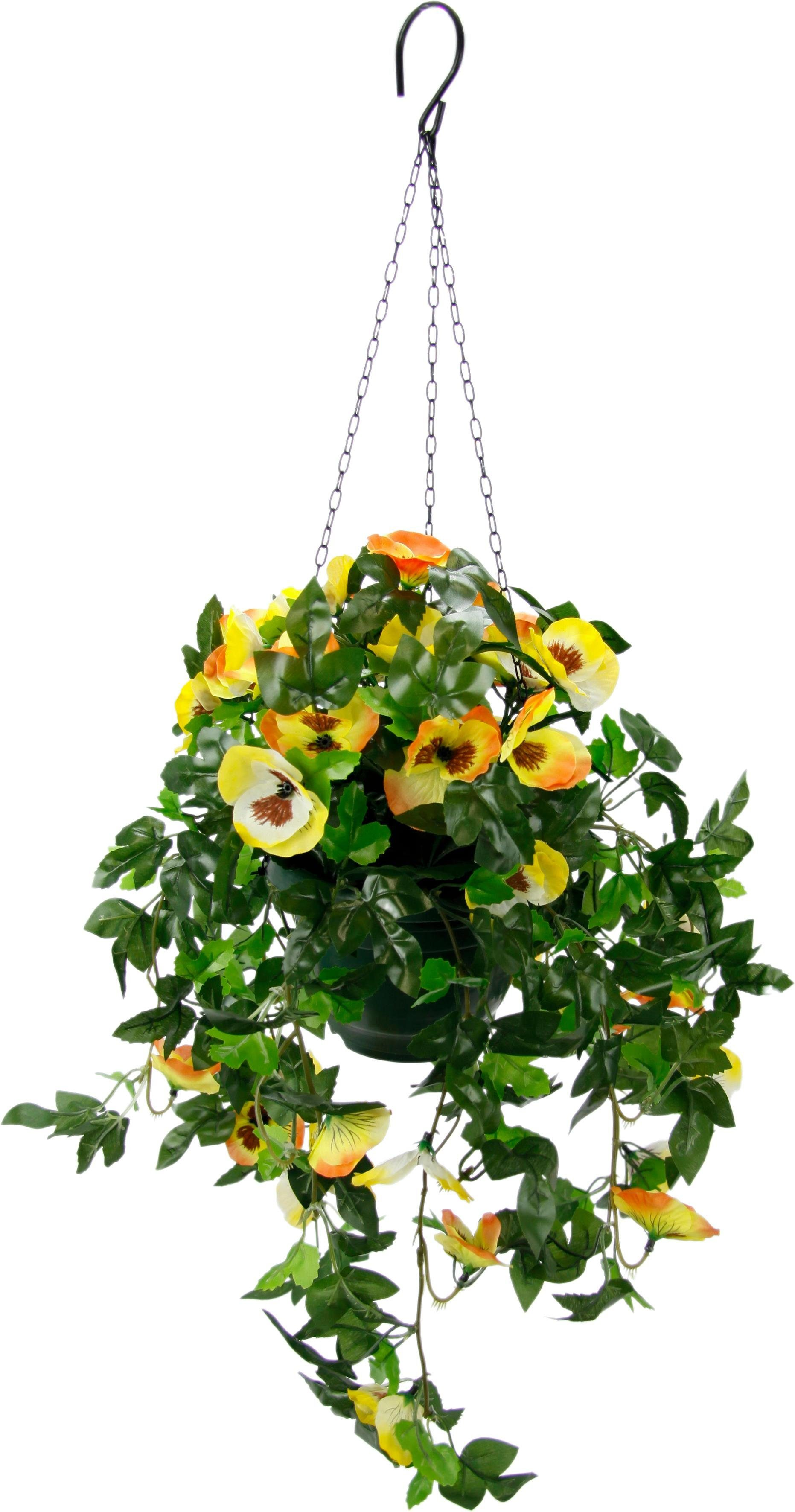 Kunstblume »Stiefmütterchenhängeampel«