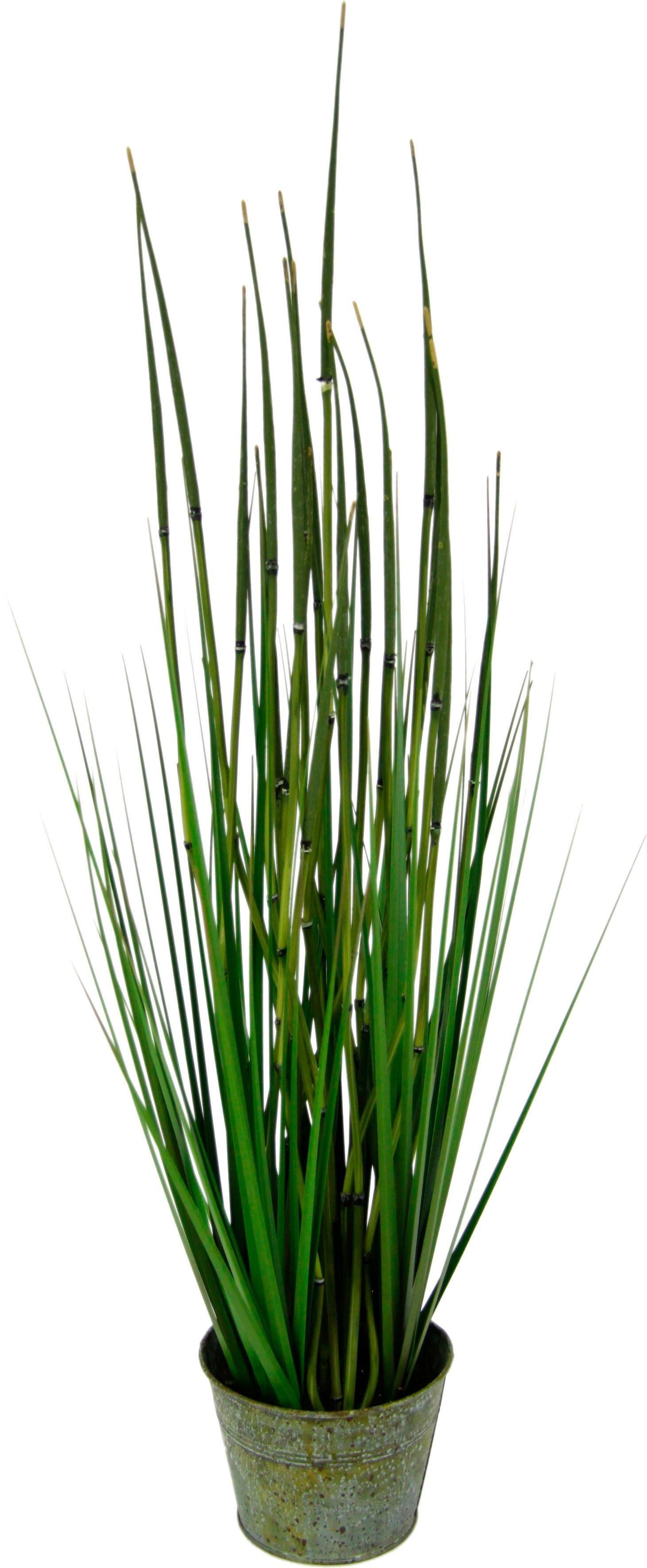 Kunstgras »Bambusgras im Metalltopf«