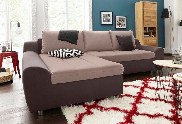 sit&more Ecksofa »Aurano«, wahlweise mit Bettfunktion und Bettkasten