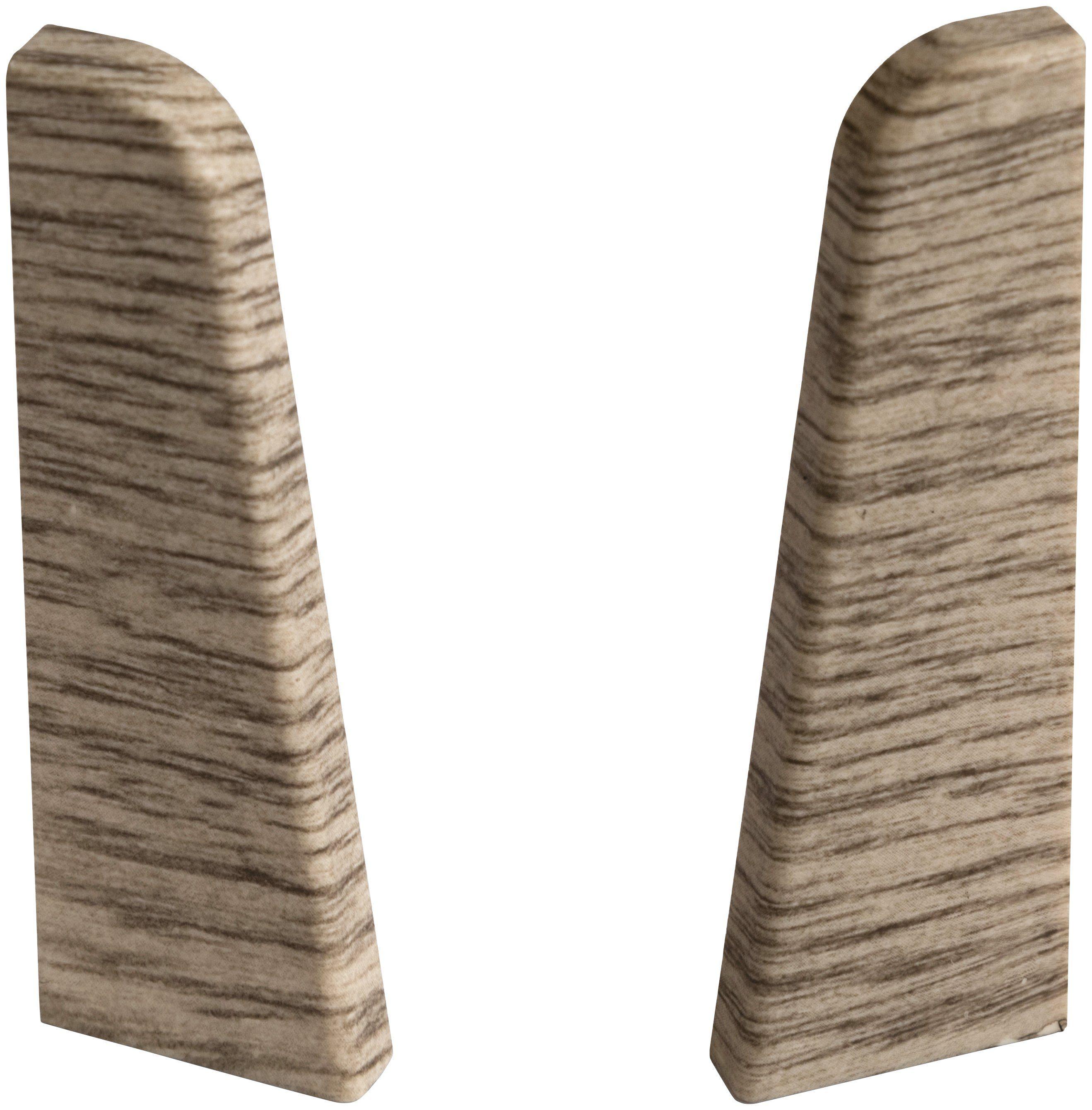 EGGER Endstücke »Eiche graubraun«, für 6cm EGGER Sockelleiste