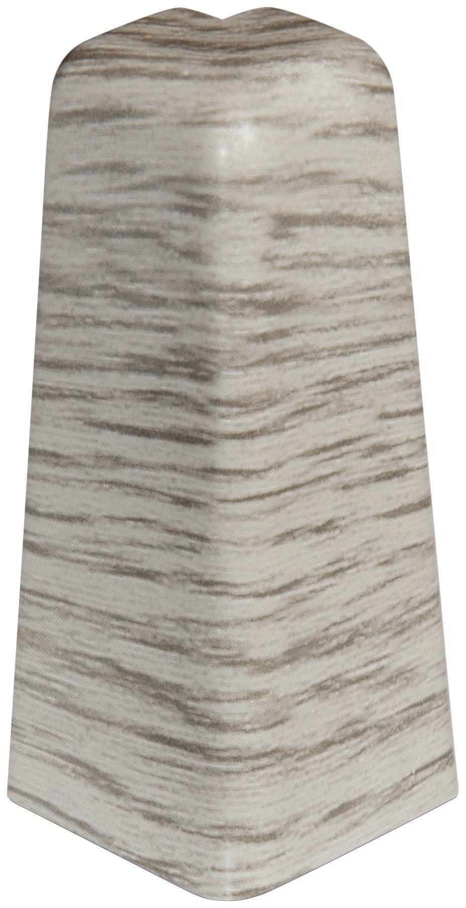 EGGER Außenecken »Esche grau«, für 6cm EGGER Sockelleiste