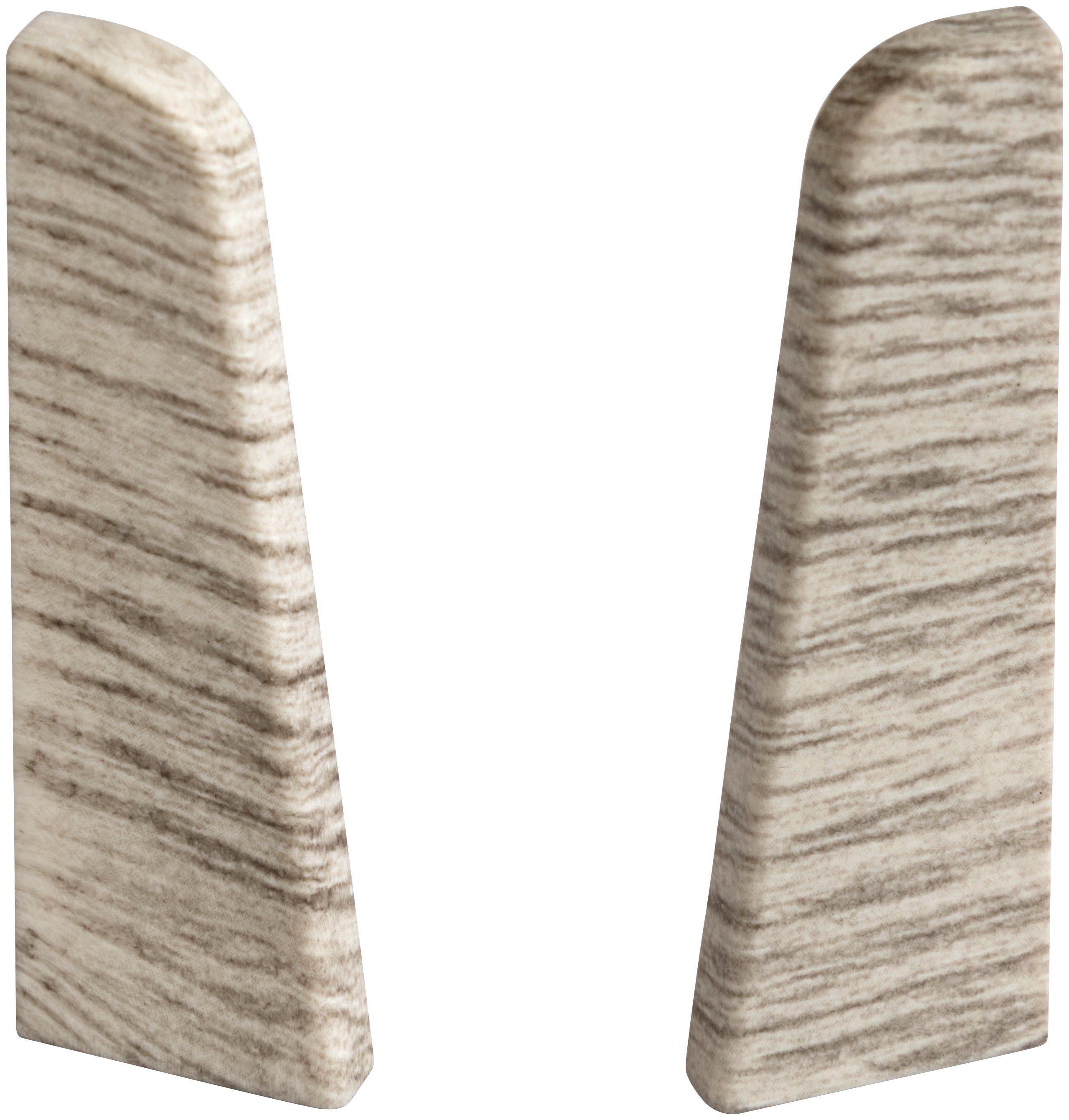 EGGER Endstücke »Esche grau«, für 6cm EGGER Sockelleiste