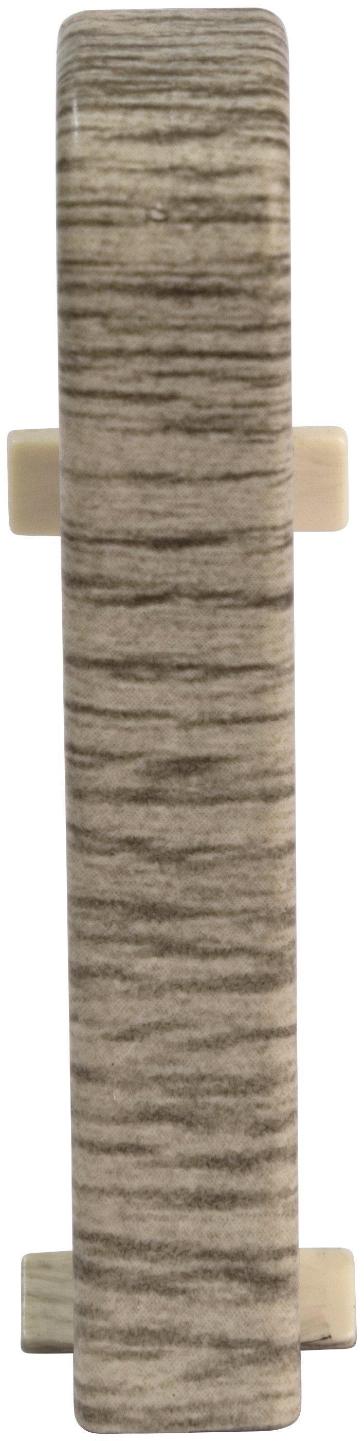 EGGER Zwischenstücke »Eiche hellgrau«, für 6 cm EGGER Sockelleiste