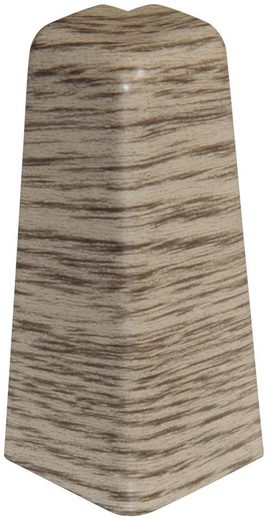 EGGER Außenecken »Eiche graubraun«, Außeneck-Element für 6 cm EGGER Sockelleiste, 2 Stk