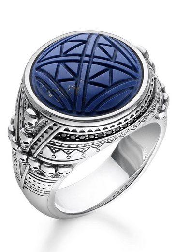THOMAS SABO Silberring »TR2204-534-1-48, 50, 52, 54, 56, 58, 60, 62, 64, 66, 68, Ethno Totenköpfe blau«, mit imit. Lapislazuli und Zirkonia