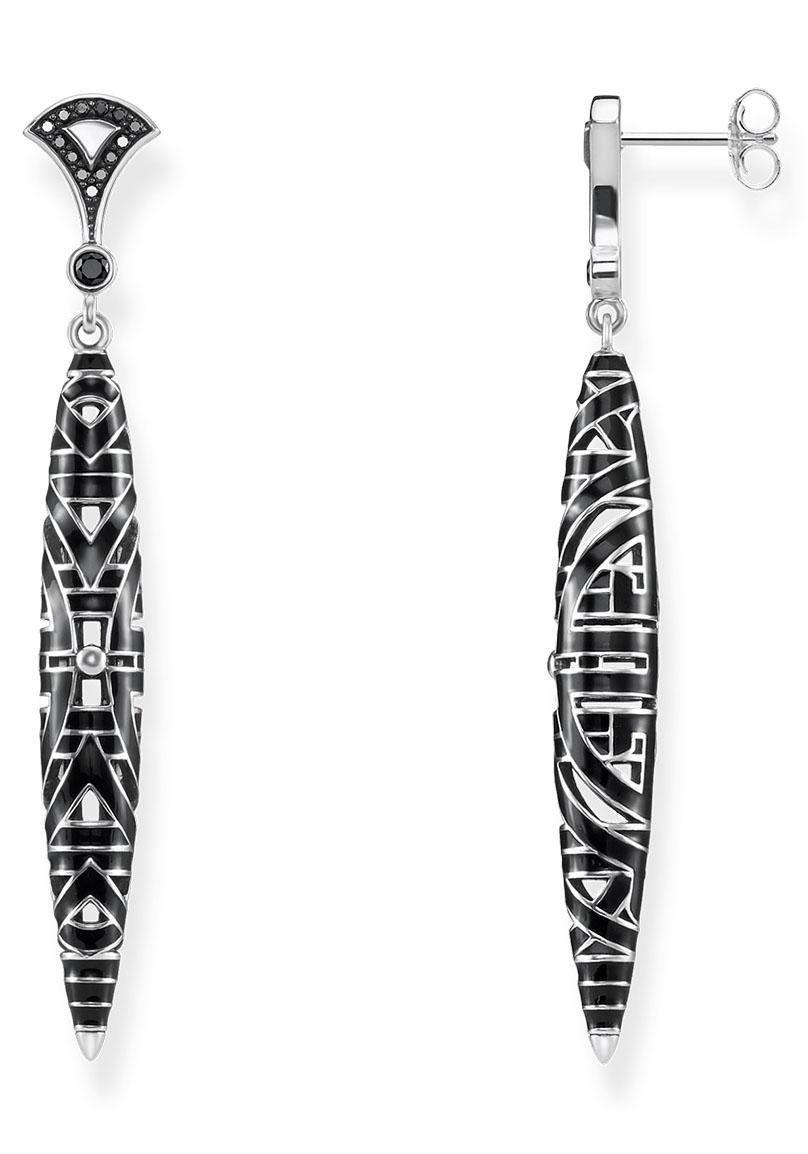 THOMAS SABO Paar Ohrstecker »H1987-691-11, Asiatische Ornamente« mit Emaille und Zirkonia