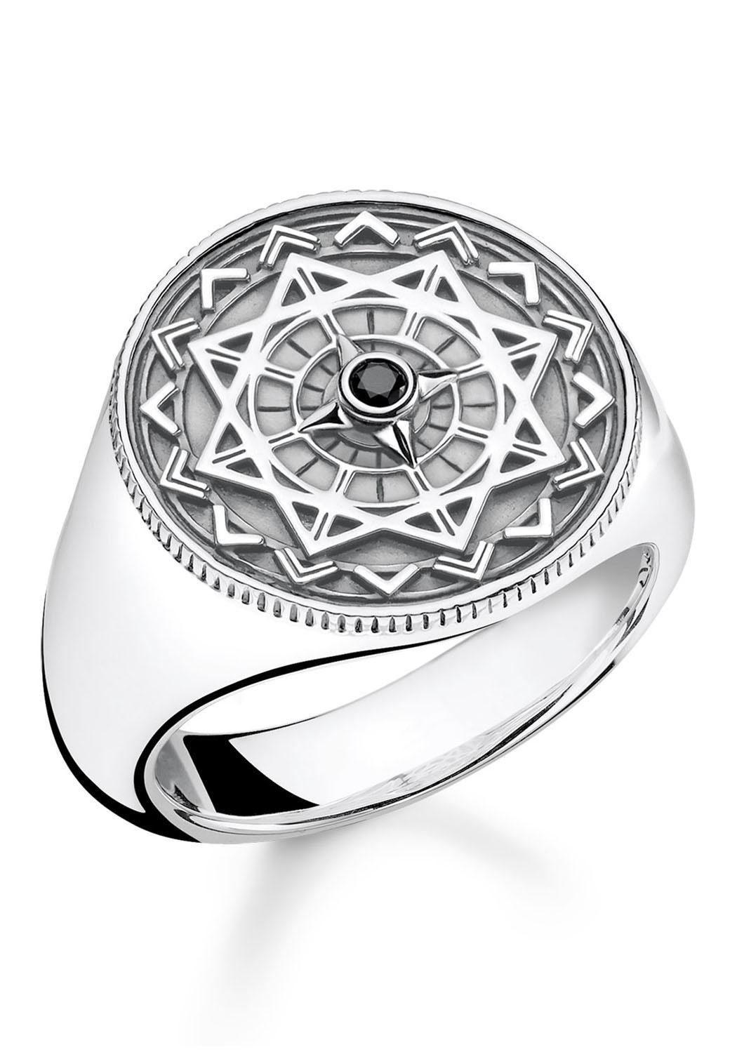 """THOMAS SABO Diamantring »Ring """"Vintage Kompass silber"""", D_TR0041-714-11-48, 50, 52, 54, 56, 58, 60, 62, 64, 66, 68« mit Diamant"""