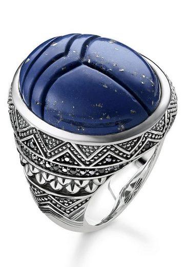 THOMAS SABO Silberring »TR2205-534-1-48, 50, 52, 54, 56, 58, 60, 62, 64, 66, 68, blauer Skarabäus«, mit imit. Lapislazuli und Zirkonia