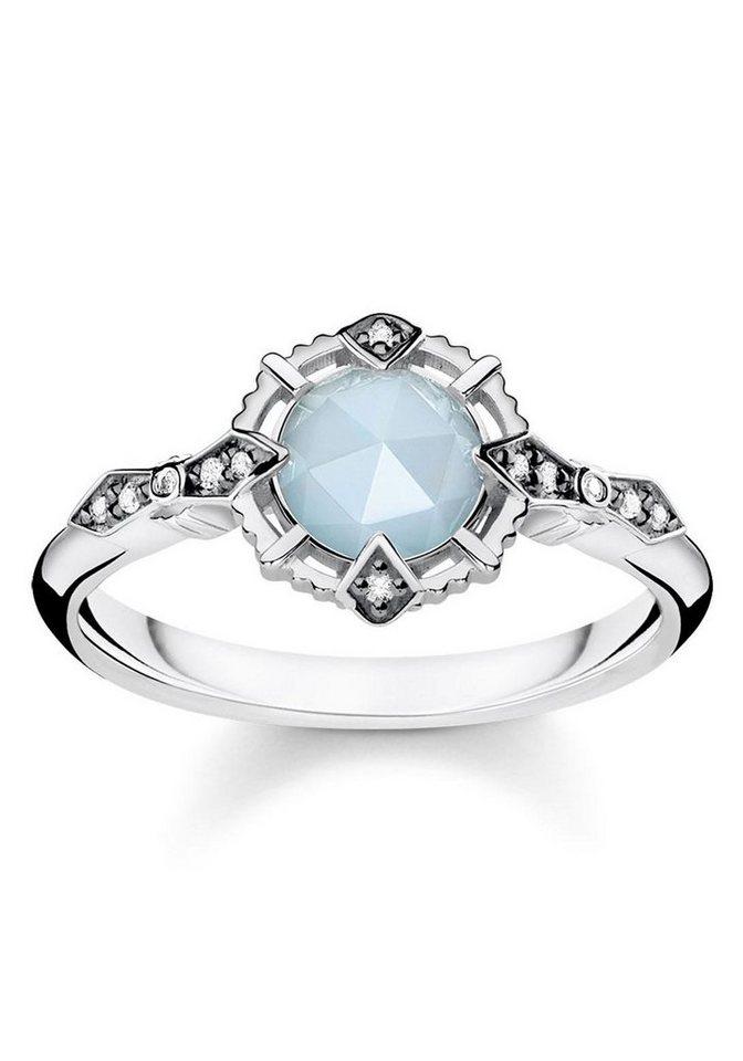 thomas sabo diamantring ring vintage hellblau d tr0043. Black Bedroom Furniture Sets. Home Design Ideas