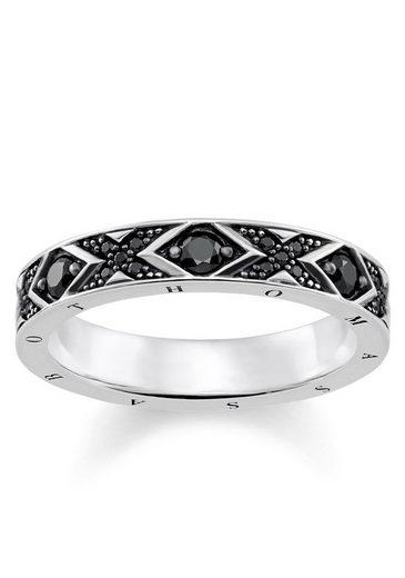 "THOMAS SABO Silberring »Ring ""asiatische Ornamente"", TR2165-643-11-50, 52, 54, 56, 58, 60«, mit Zirkonia"