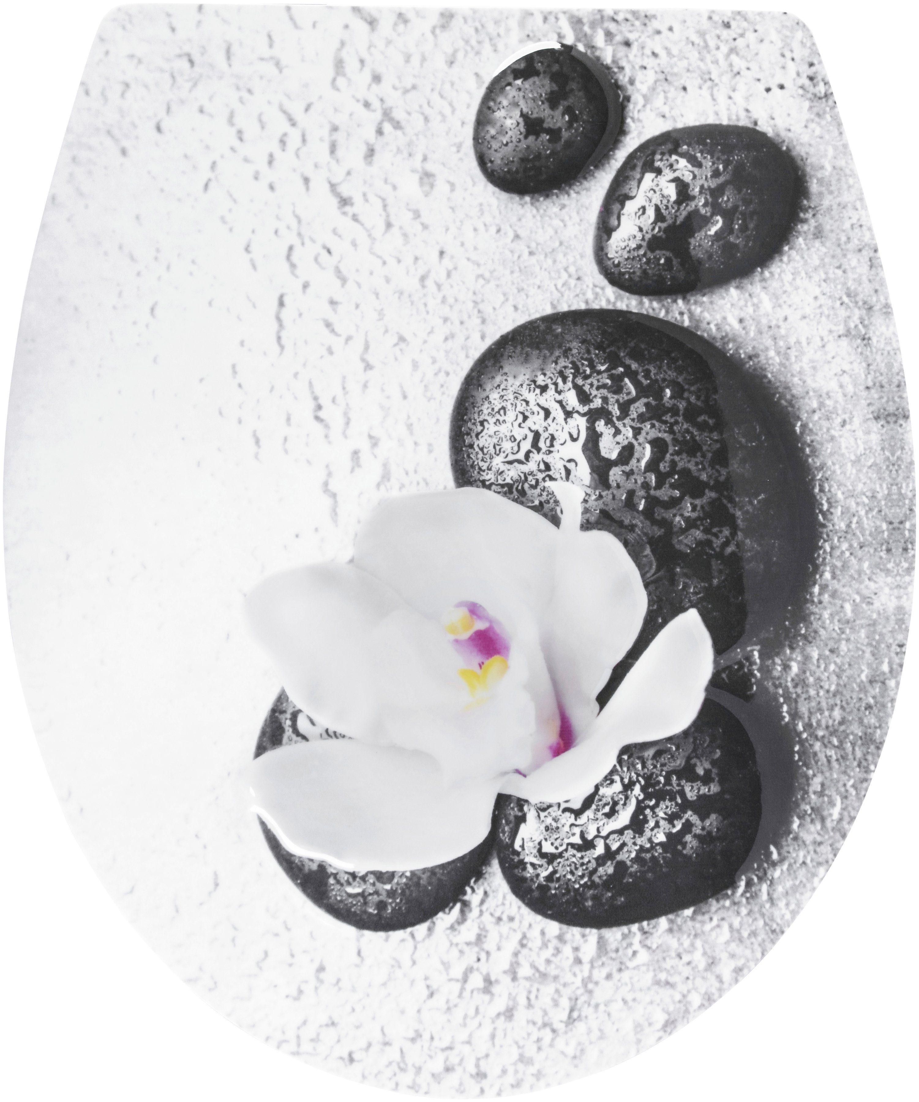 CORNAT WC-Sitz »Wet Stone«, Relief-Motiv