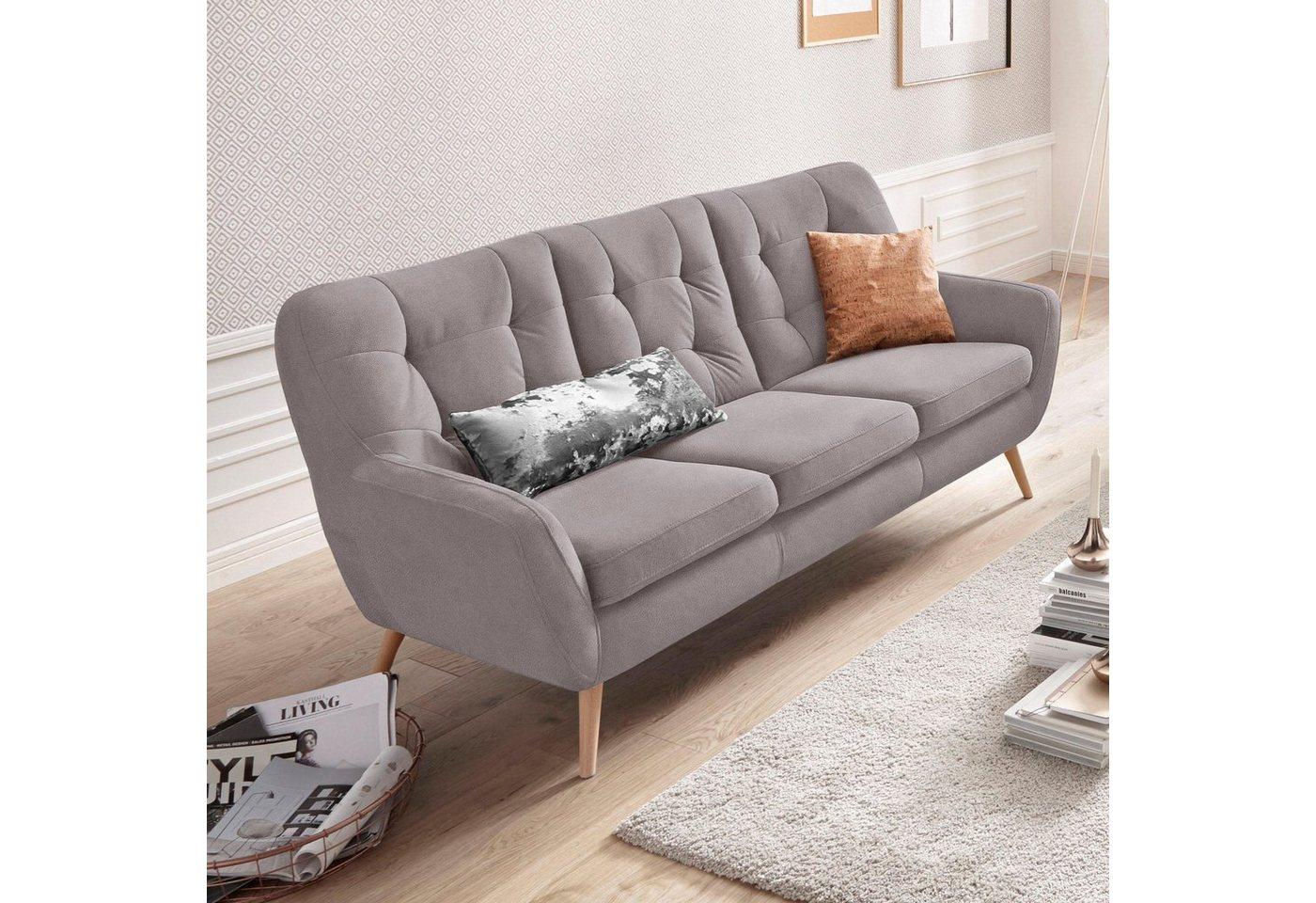 exxpo - sofa fashion 3-Sitzer silberfarben  Polstermoebel