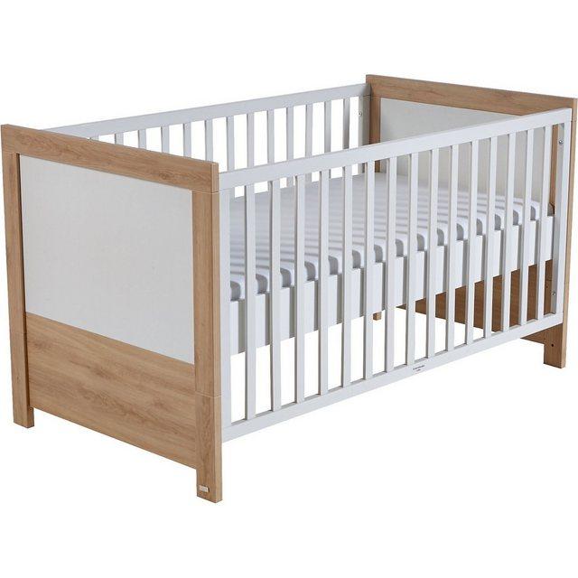 Kinderbetten - Roba® Kinderbett Wickelkommode (breit) Sparset LOUISA, Weiß Eich » weiß  - Onlineshop OTTO