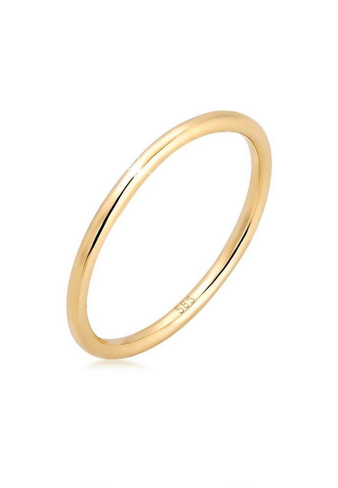 Elli Fingerring Bandring Ehering Trauring Hochzeit 585er Gelbgold Online Kaufen Otto