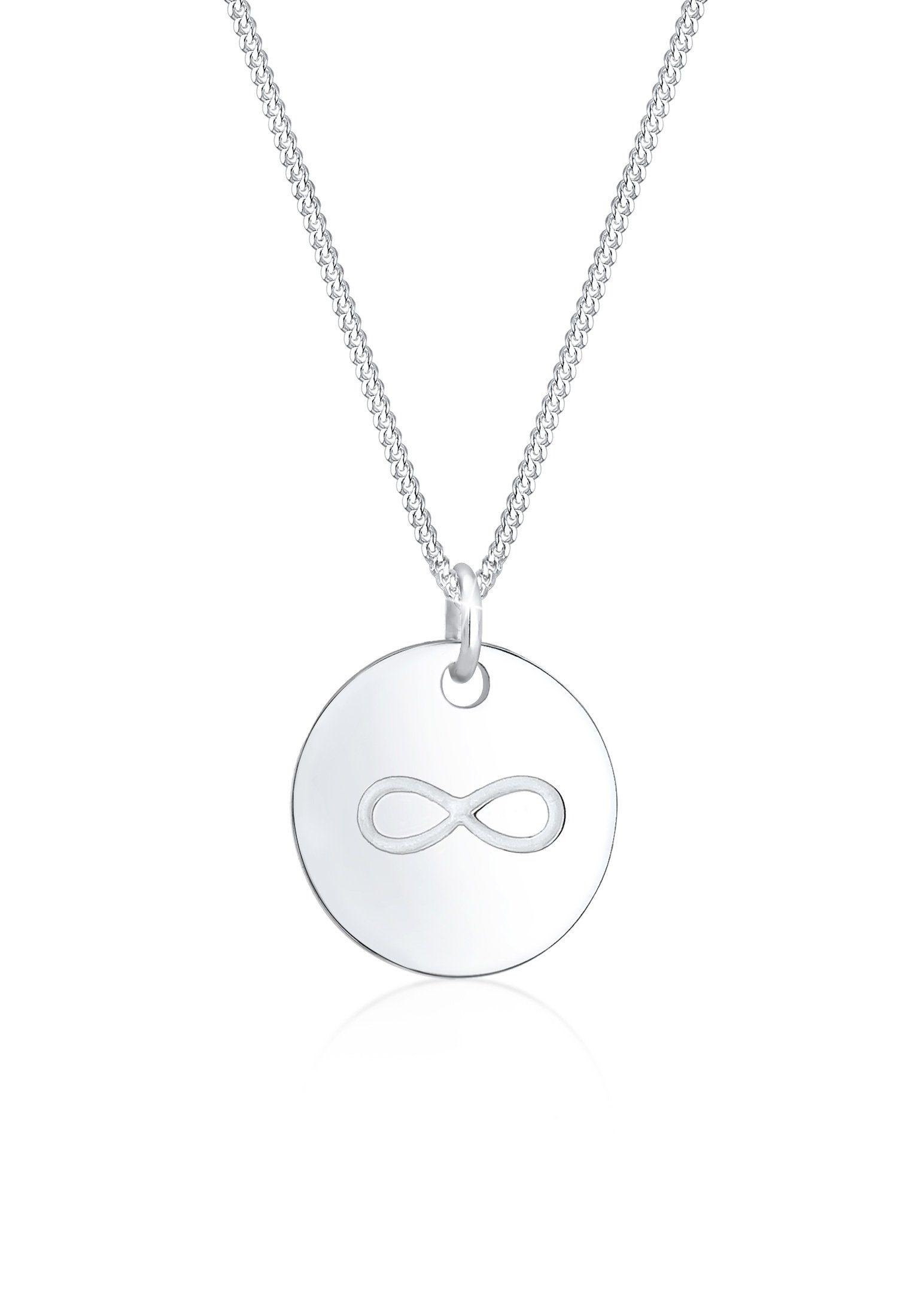 Elli Collierkettchen »Infinity Münze Unendlichkeit Geo 925er Silber«