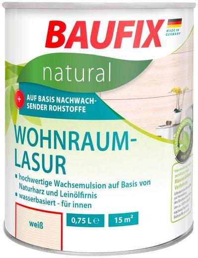 Baufix Holzschutzlasur »Weiß«, 0,75 Liter, weiß
