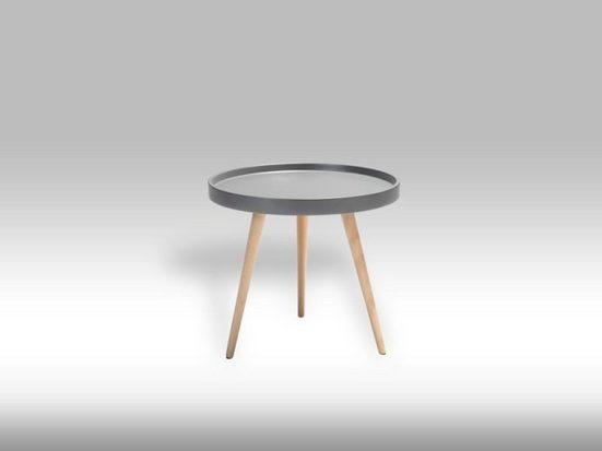 ebuy24 Couchtisch »Osaka Wohnzimmertisch Ø 50cm in matt grau mit Bein«