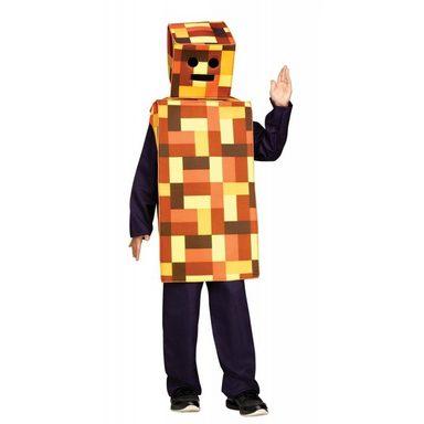 Bergwerk Videospielfigur Kinderkostüm orange
