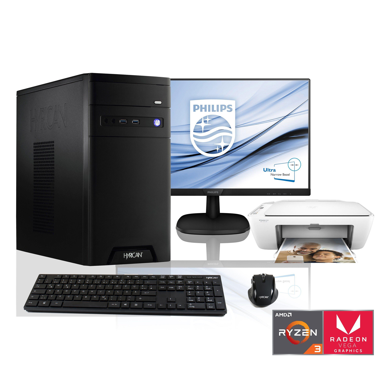 "HYRICAN Ryzen 3 2200G Vega 8 8GB DDR4 SSD HDD 24"" Monitor Drucker »CyberGamer SET1448«"