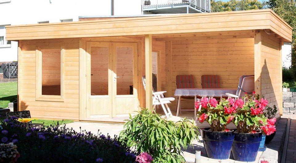 wolff set gartenhaus maja 40 a bxt 699x349 cm inkl fu boden und anbaudach mit r ckwand. Black Bedroom Furniture Sets. Home Design Ideas