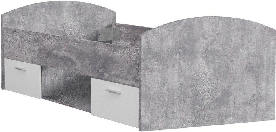 forte bett winnie mit 2 schubk sten kaufen otto. Black Bedroom Furniture Sets. Home Design Ideas