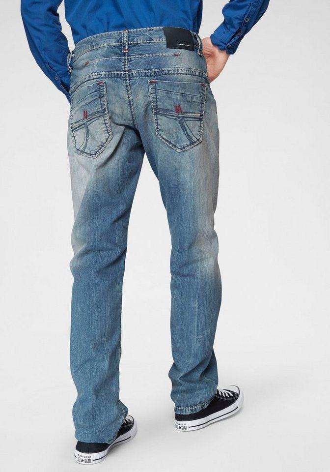 CAMP DAVID Loose-fit-Jeans »CO:NO:C622« mit markanten Nähten | Bekleidung > Jeans > Loose Fit Jeans | Blau | Denim | CAMP DAVID