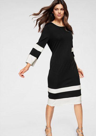 BLACK WHITE Jerseykleid mit Color-Blocking