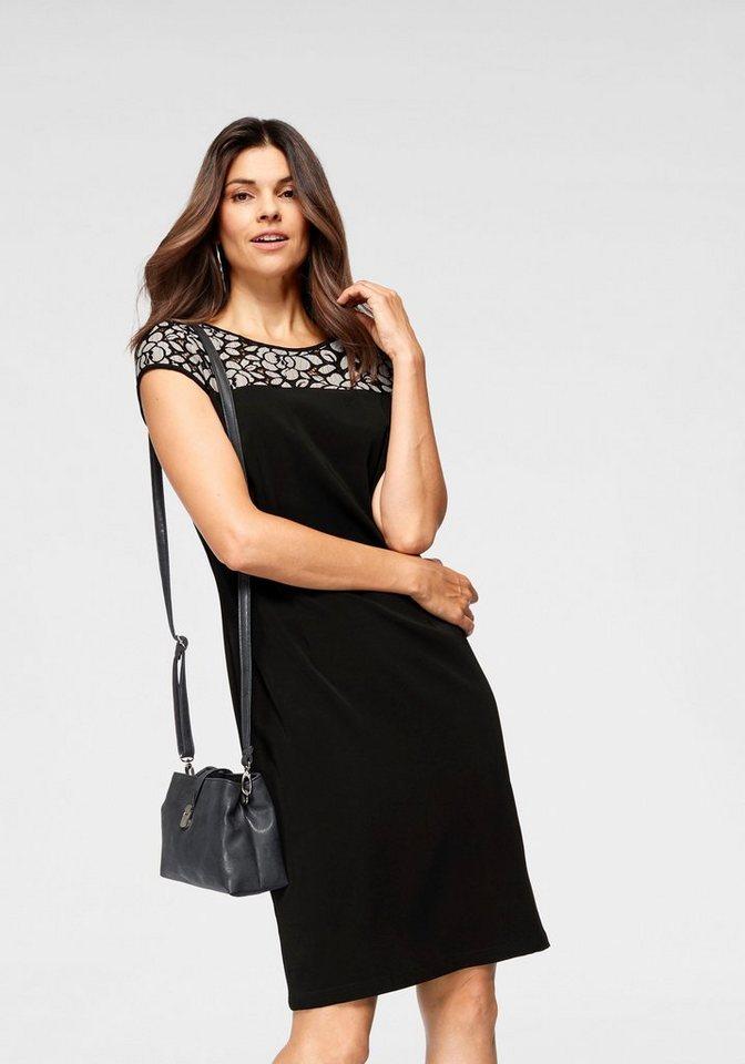 Damen BLACK WHITE Abendkleid mit Spitze schwarz | 05712394780684