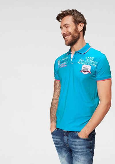 Cipo & Baxx Poloshirt »Rowing Club« bis Gr. 5XL