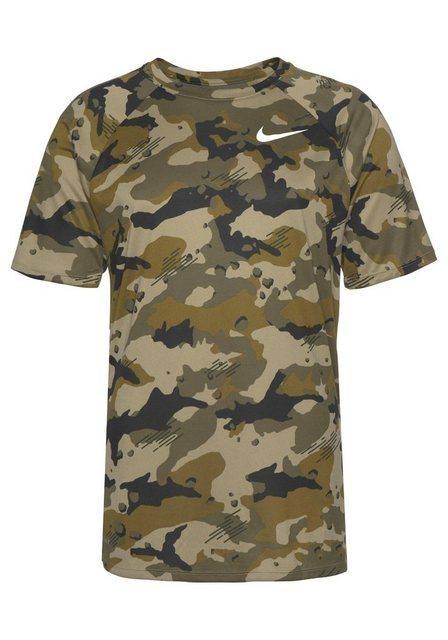 Nike Trainingsshirt »M NK DRY LEG TEE CAMO AOP« | Sportbekleidung > Sportshirts > Funktionsshirts | Grün | Nike