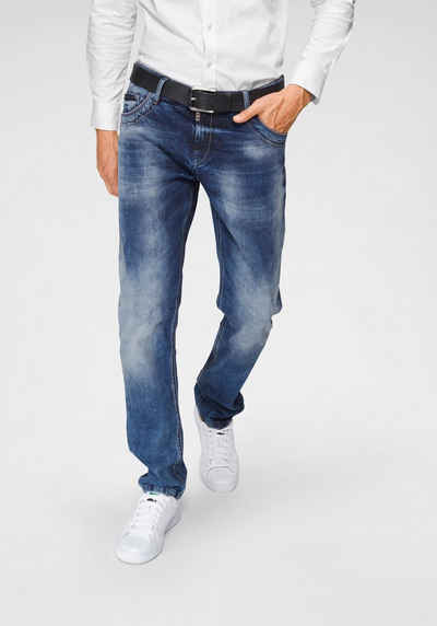 b03c741a8e0e41 Cipo   Baxx Regular-fit-Jeans »Red Dot«